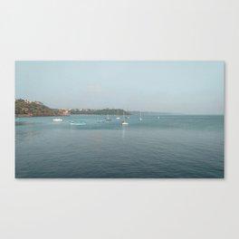 Boat in the sea Canvas Print