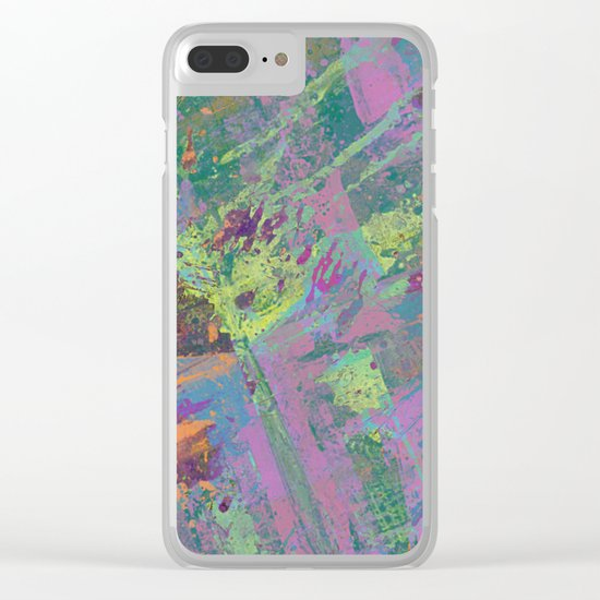 Abstract Thoughts 2 - Textured, painting Clear iPhone Case