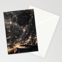 1002 - ISS Map of Connecticut & New Jersey Stationery Cards
