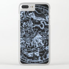 Ice on Black | Zodiac Skies & Astrological Ties Clear iPhone Case