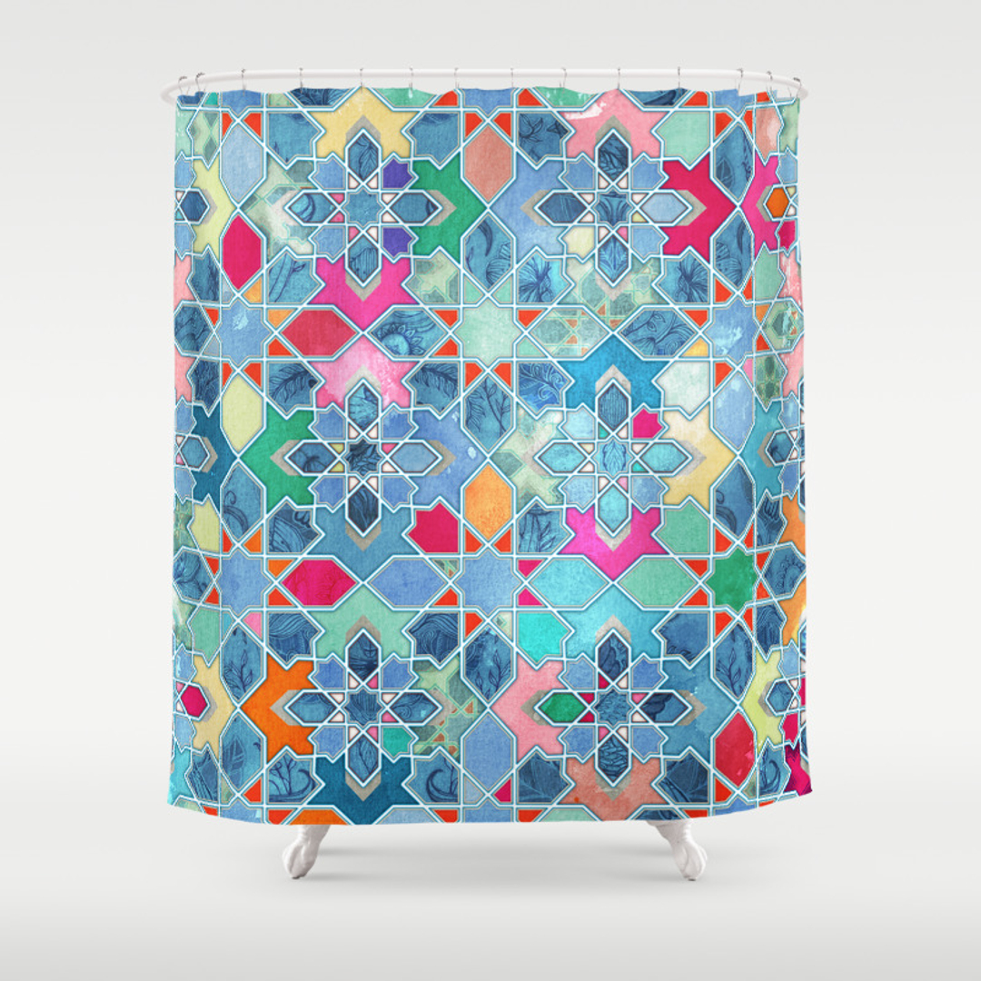 Moroccan tile pattern curtains - Moroccan Tile Pattern Curtains 11