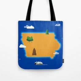 Iowa Island Tote Bag