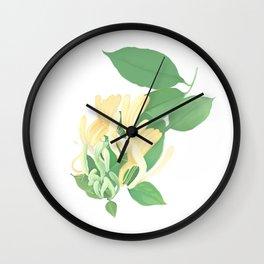 honey suckle Wall Clock