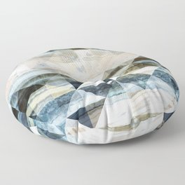Geo Marble - Natural and Blue #buyart #marble Floor Pillow