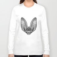 bat Long Sleeve T-shirts featuring BAT by Charlotte quillet