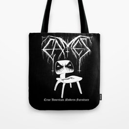 Modern Black Metal Tote Bag