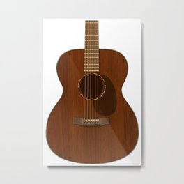 Acoustic Guitar Art Metal Print