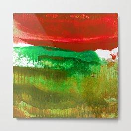 Encaustic Abstract No.27L by Kathy Morton Stanion Metal Print