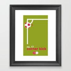 Corner Kick (No. 17) Framed Art Print