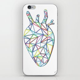 Yara's Stained Glass Heart iPhone Skin