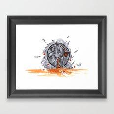 the orange prisoner Framed Art Print
