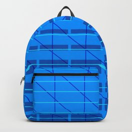 grid check layer_blue Backpack