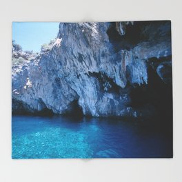 NATURE'S WONDER #5 - BLUE GROTTO (Turkey) #2 #art #society6 Throw Blanket