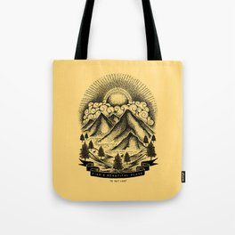 FIND A BEAUTIFUL PLACE TO GET LOST (Yellow) Tote Bag
