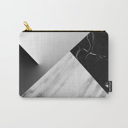 Monochromatic Marble Collage  Carry-All Pouch