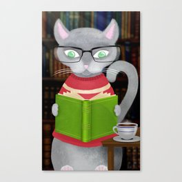 Kitty Corner Coffee And Reading Room Canvas Print