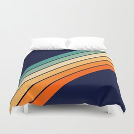 Farida - 70s Vintage Style Retro Stripes Duvet Cover