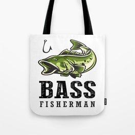 Loudmouth Sea Bass Fisherman's Fishing Fish Men's Fishermen Tote Bag