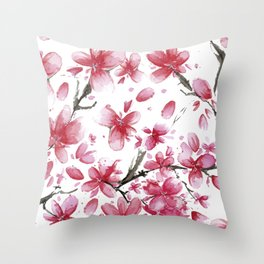 Cherry Blossoms #society6 #buyart Throw Pillow