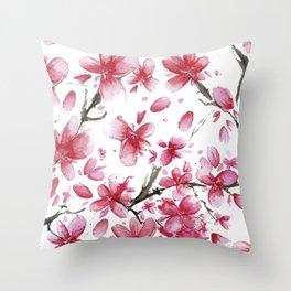 Cherry Blossoms #society6 #buyart Throw Pillow