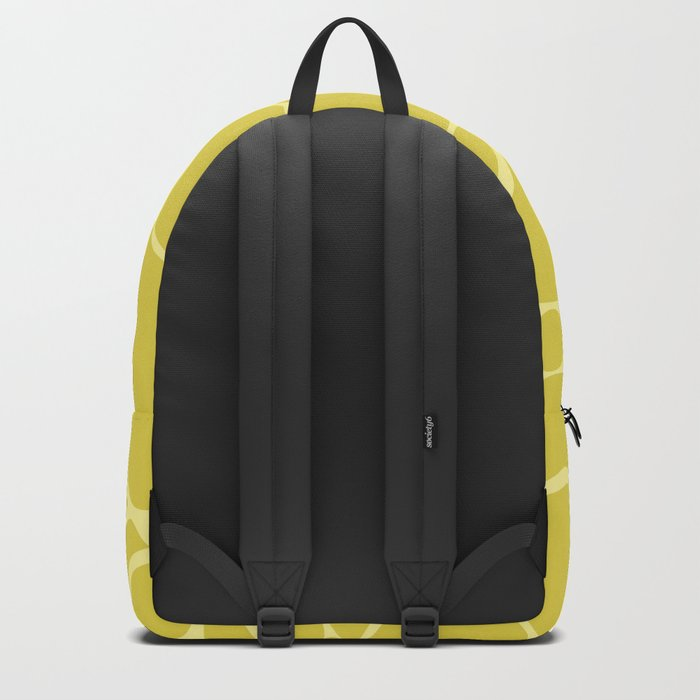 Yellow creative abstract pattern . Backpack