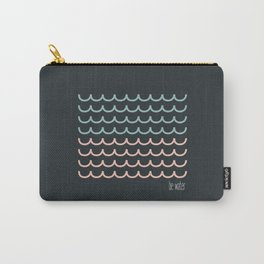 Blue and pink waves Carry-All Pouch