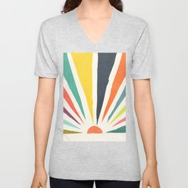 Rainbow ray Unisex V-Neck