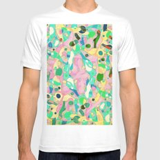 - pastel orgy - Mens Fitted Tee MEDIUM White