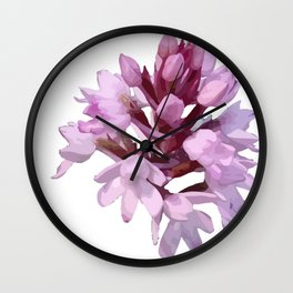 Pink Orchid Wildflower Wall Clock