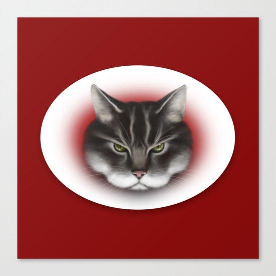 sinister kitty Canvas Print