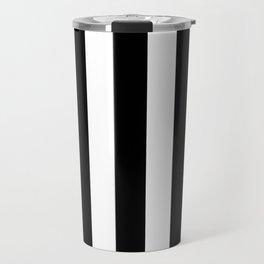Stripes Black And White Travel Mug