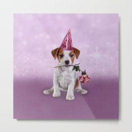 Drawing Puppy Jack Russell Terrier Metal Print