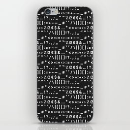 Typography Special Characters Pattern #2 iPhone Skin