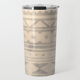 Ethnic geometric pattern with triangles circles shapes and lines Travel Mug