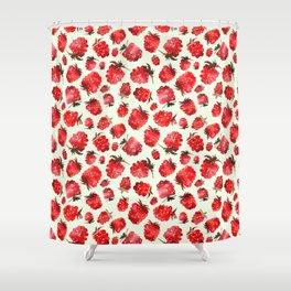 Raspberry vibes Shower Curtain