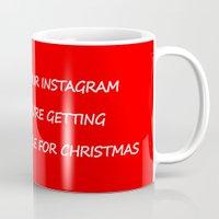instagram Mugs featuring Christmas - Instagram by Rothko