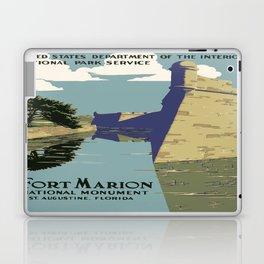 Vintage poster - Fort Marion Laptop & iPad Skin