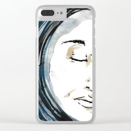 The Woman in the Moon Clear iPhone Case