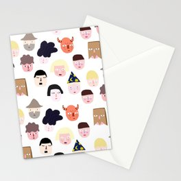 noches de brujas Stationery Cards