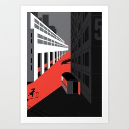 Mystery and Melancholy of a Street. 2020 Art Print