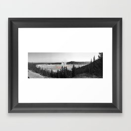Grand Prismatic, Yellowstone NPS Framed Art Print