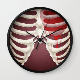 Bleeding Heart Redux Wall Clock