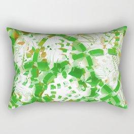 Green industrial abstract Rectangular Pillow