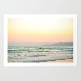 California coast sorbet sunset. Art Print
