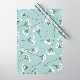 Queen Anne's Lace Floral Pattern Wrapping Paper