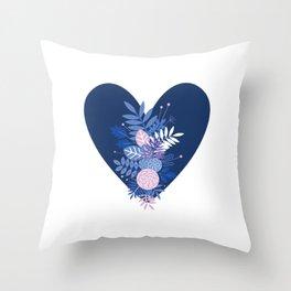 Feelings (Blue) Throw Pillow