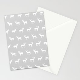 Deer pattern minimal nursery basic grey and white camping cabin chalet decor Stationery Cards
