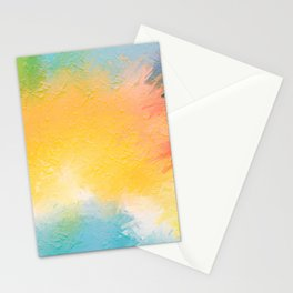 Modern Multi Color Abstract Stationery Cards