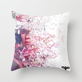 PHYSICALLY: AT WORK, MENTALLY: SOMEWHERE ELSE Throw Pillow