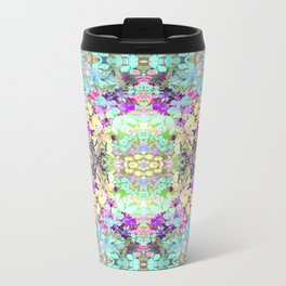Watercolor Floral Metal Travel Mug